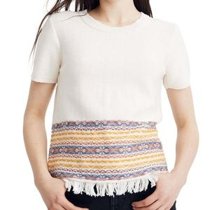 Madewell Fringe Jacquard Sweater Tee